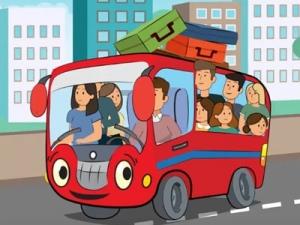 Анимационный ролик Автобусы